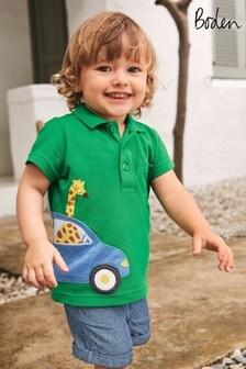 Boden Green Fun Pique Polo Shirt
