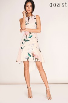 Coast Pink Campbell Print Scuba Dress