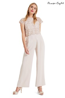 5c9e562c61 Phase Eight Pink Katy Lace Jumpsuit