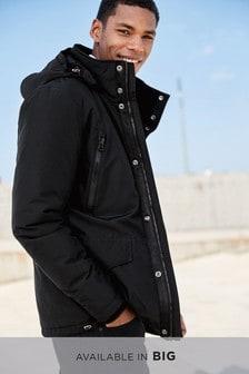 Jachetă căptușită groasă cu glugă