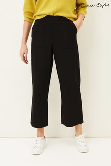 Phase Eight Black Nora Denim Culottes