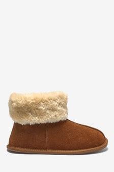Semišové papučové čižmičky