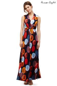 Phase Eight Navy Multi Josefina Spot Maxi Dress