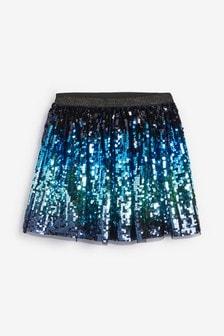 Tieňovaná sukňa s flitrovými hviezdičkami (3 – 16 rok.)