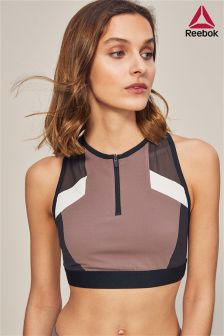 Reebok Grey Colourblock Crop Top