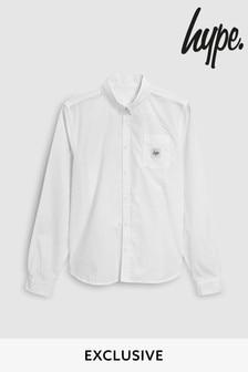 Hype.白色Core牛津襯衫