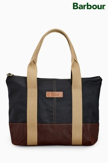 Barbour® Navy Red Ashridge Small Tote Bag