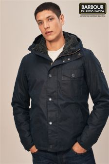 Barbour® International Navy Kevlar Wax Jacket