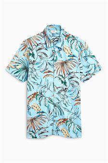 Leaf Print Jersey Shirt