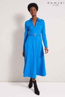 Damsel In A Dress Blue Dalby Trench Dress
