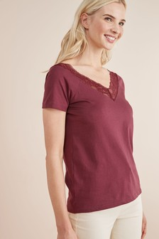 Wide Neck Lace Tee