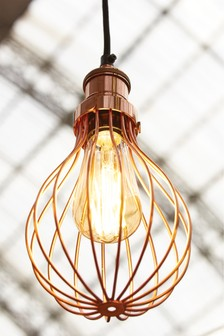 Industville Balloon Copper Cage Pendant