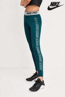 Синие теплые леггинсы Nike Pro Nereids
