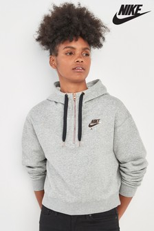 Nike Grey Air Half Zip Hoody
