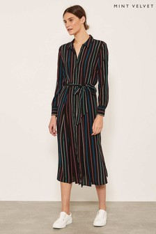 Mint Velvet Multi Stripe Shirt Dress