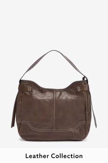 Signature Leather Hobo Bag