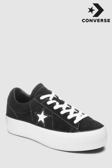 Converse Black Platform One Star