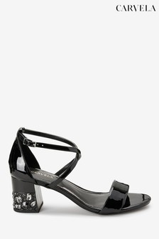 Carvela Black Libra Jewel Heeled Sandals