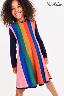 Boden Multi Sparkle Stripe Knitted Dress