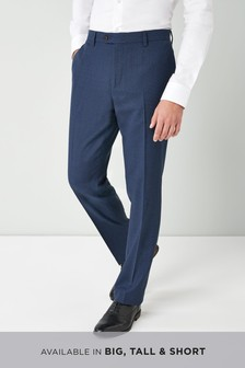 Textured Wool Blend Trousers