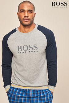 BOSS Grey/Navy Raglan Sweatshirt