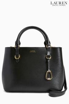 Lauren Ralph Lauren® Black Leather Grab Bag