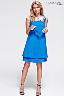 HotSquash Cobalt Chiffon Double Layered Dress