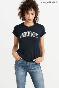 Abercrombie & Fitch Navy Logo Tee