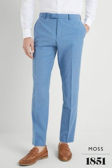 Moss 1851 Performance Tailored Fit Aqua Trousers