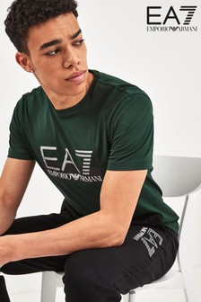 EA7 Green Chest Logo T-Shirt