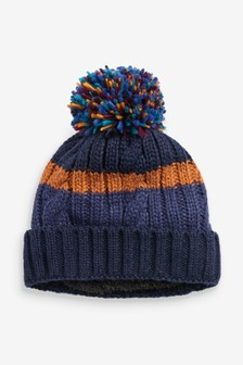 Colourblock Bobble Hat