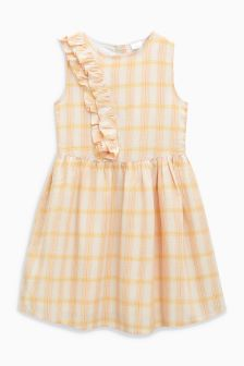 Check Ruffle Dress (3-16yrs)