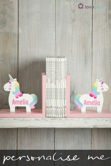 Personalised Unicorn Book Ends by Loveabode