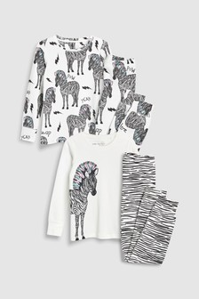 Zebra Snuggle Fit Pyjamas Two Pack (3-16yrs)