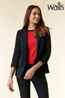 Wallis Blue Turn Back Cuff Jacket