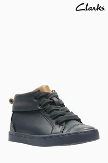 Clarks Navy City Oasis Lace-Up First Trainers