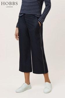 Hobbs Blue Callie Crop Trouser
