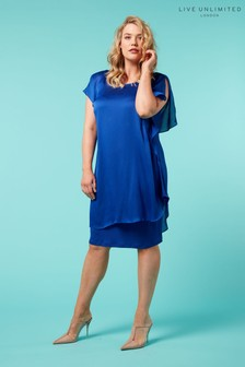 Live Unlimited Blue Waterfall Side Dress