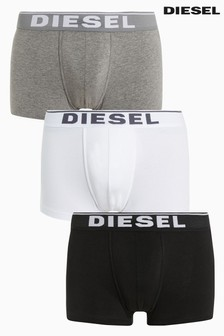 Diesel® Black/Grey/White Trunk Three Pack