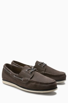 Suede Casual Boat Shoe