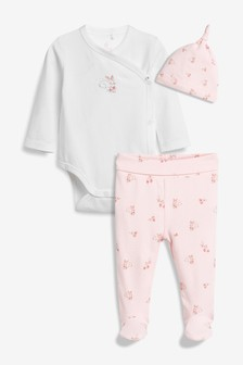 Bunny T-Shirt, Leggings And Hat Set (0-9mths)