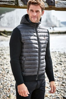 Knitted Padded Hoody