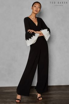 Ted Baker KARRLII Full Sleeve Wide Leg Jumpsuit