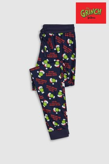 Grinch Jersey Cuffed Long Bottoms