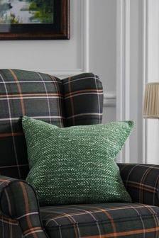 Ivy Green Ashton Chunky Chenille Square Texture Cushion