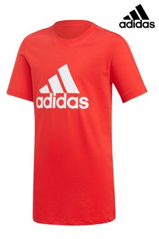 adidas Red Stack Logo Tee