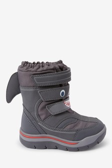 Shark Snow Boots (Younger)
