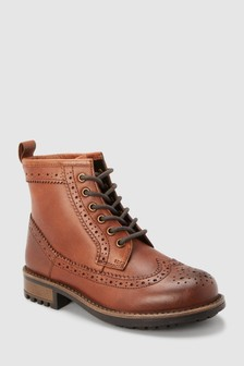 Leather Brogue Boots (Older)