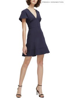 French Connection Navy Flared Dress