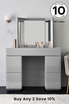 Sloane Grey Slim Dressing Table